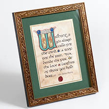 Celtic Card Company Home Blessing Framed Manuscript from Ever Irish Gifts