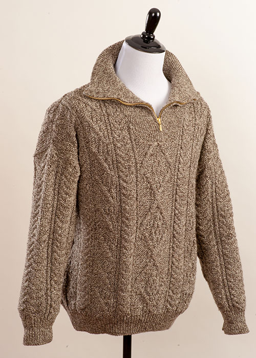 Men's Wool Sweater - 1/4 Zip