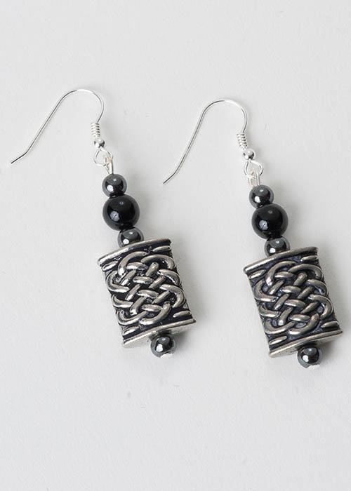Celtic Black Onyx Earrings