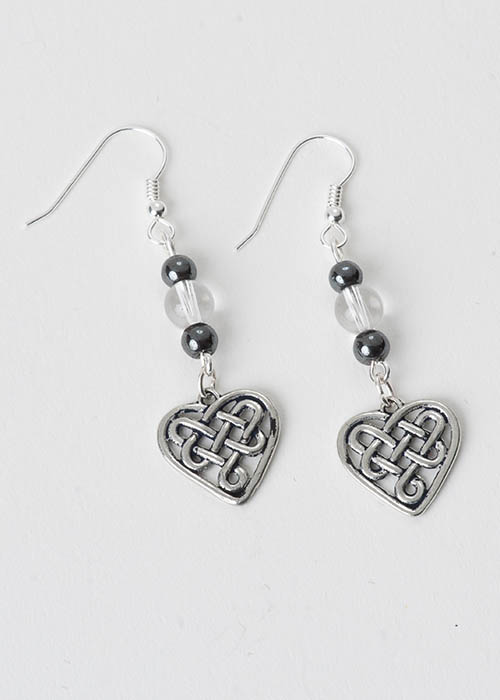 Celtic Rock Crystal Earrings