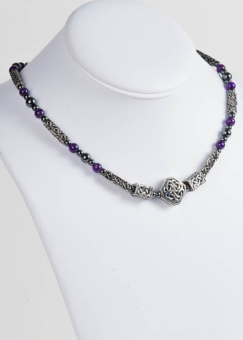 Celtic Amethyst Necklace