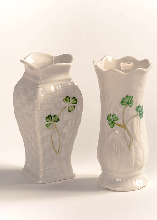 Belleek Mini Vases - Set of 2