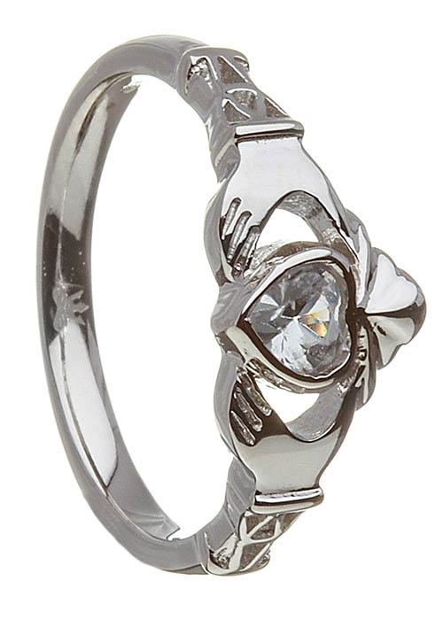 March-Aquamarine Claddagh Ring