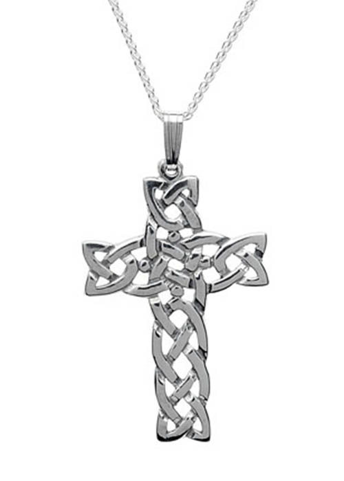 Celtic Cross Pendant Sterling Silver Filigree Crucifix