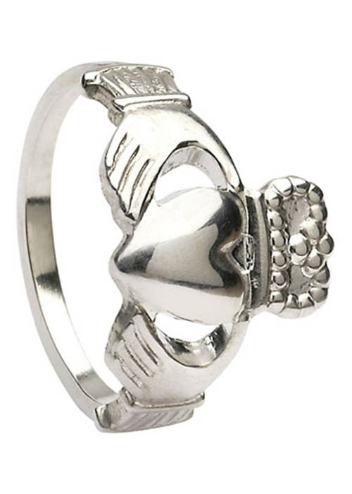 Traditional Sterling Silver Claddagh Ring