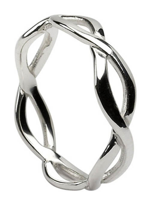 Ladies Sterling Silver Infinity Band Ring