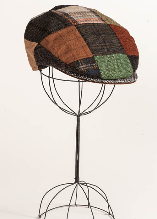 Irish Tweed Cap - Patchwork