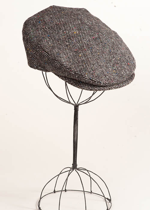 Irish Tweed Cap - Gray Salt & Pepper