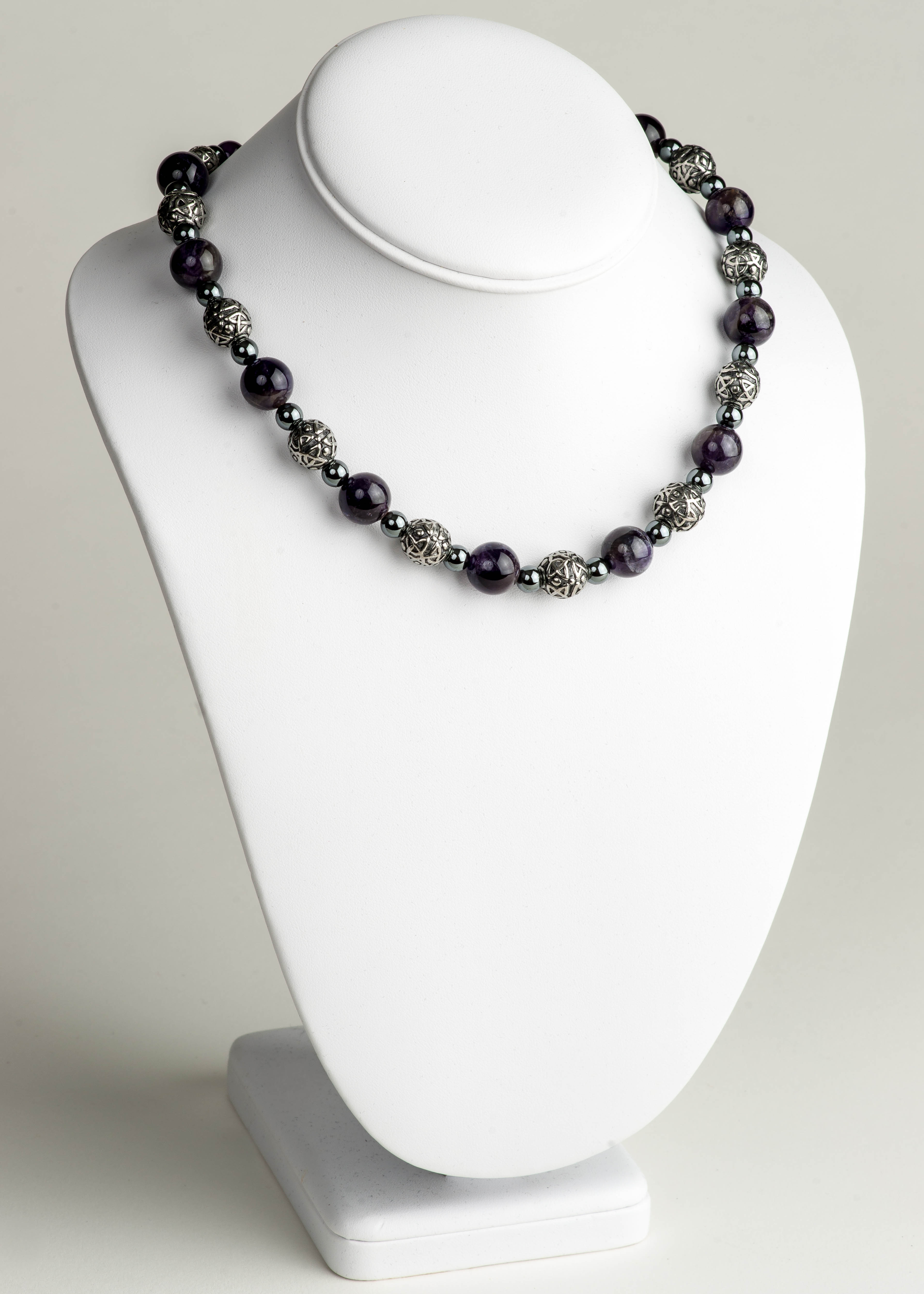 Celtic Amethyst Necklace - Big Beady