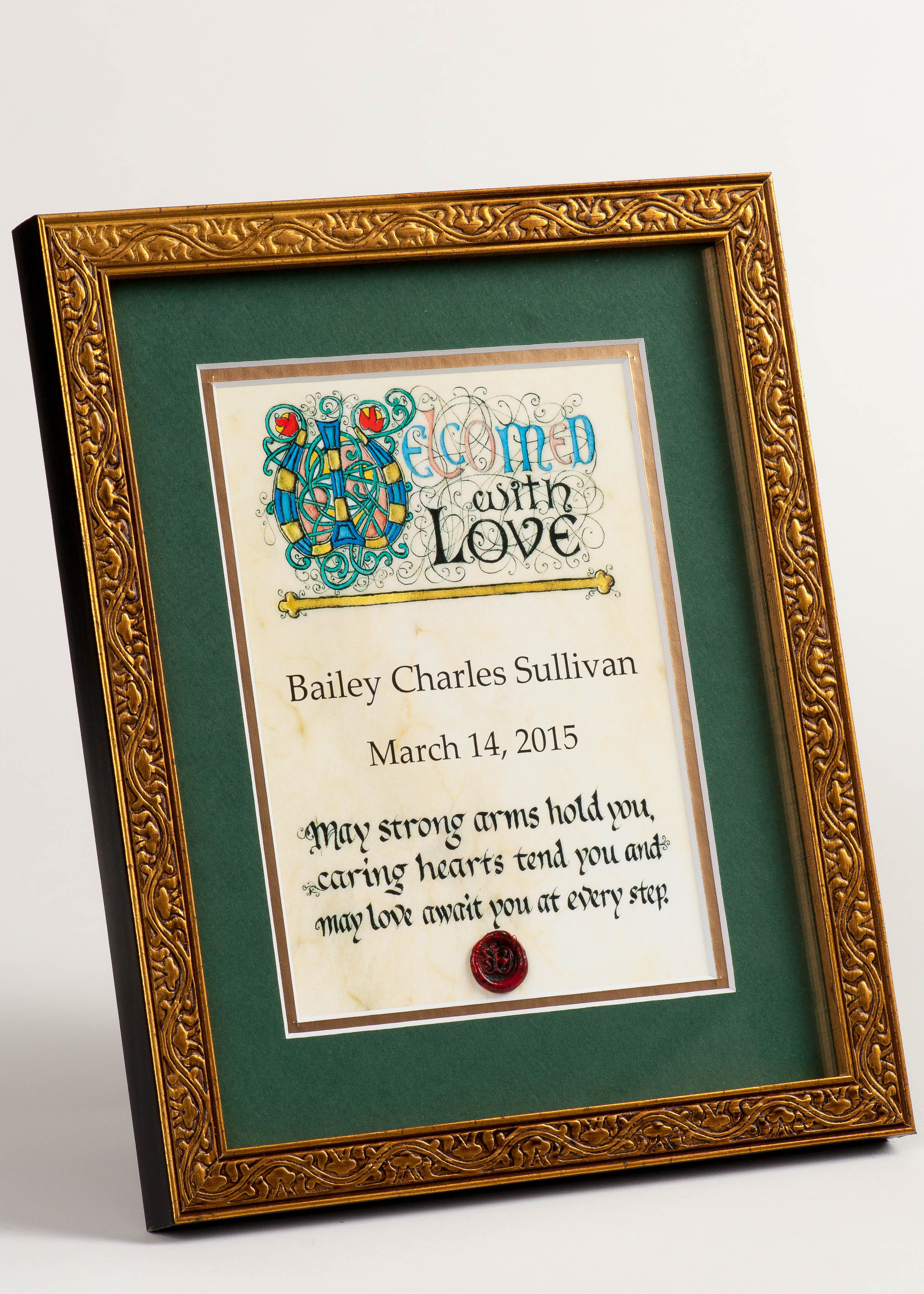 Personalized Celtic Art for the Irish Baby