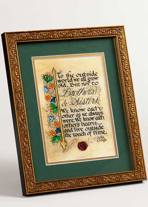 Framed Celtic Art Brothers and Sisters