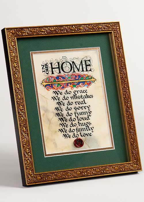 Framed Celtic Art Home