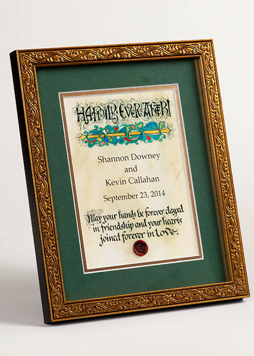 Framed Celtic Art Personalized Wedding