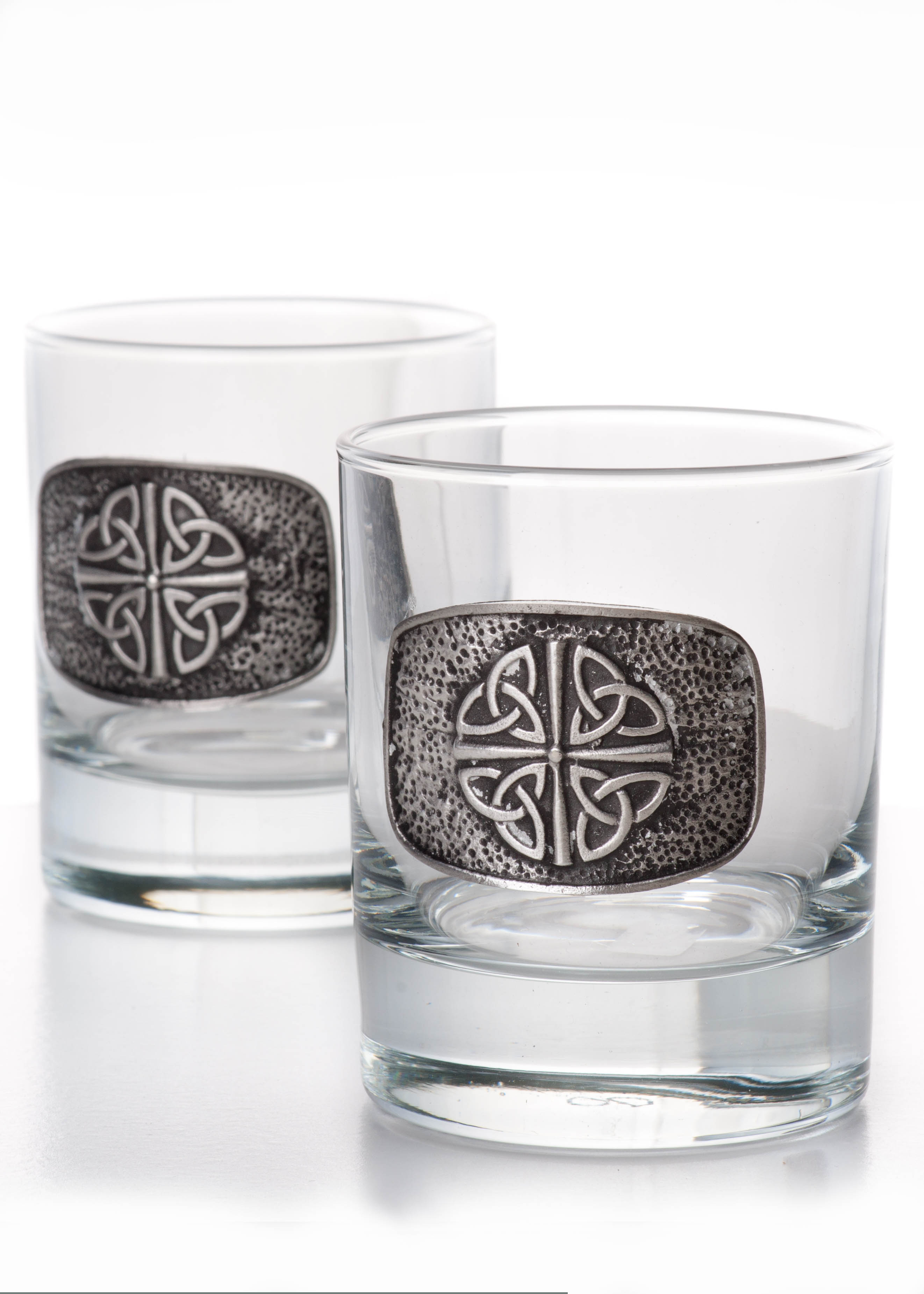 Celtic Knot Pewter Whiskey Glass Set