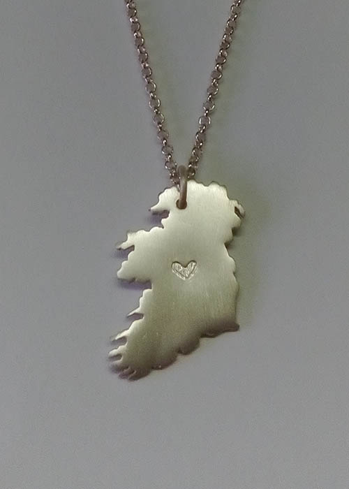 Ireland Country Pendant with Heart