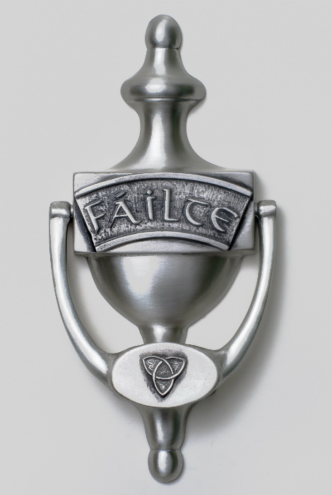 Irish Pewter Door Knocker - Failte