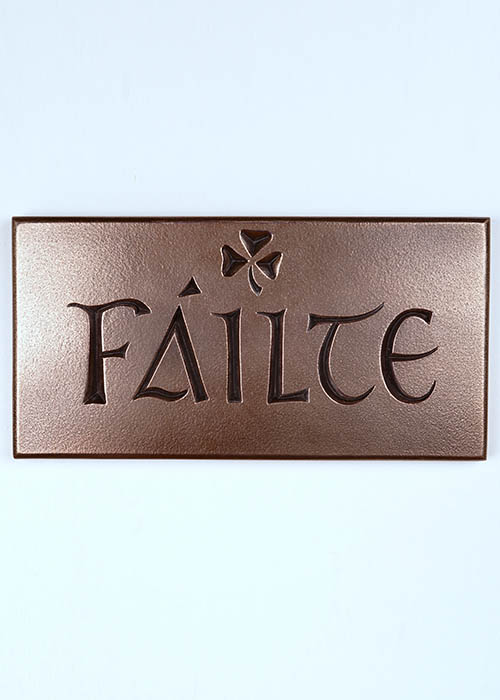 Bronze Wall Plaque - Failte