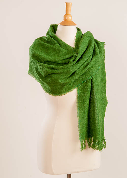 Superfine Lambswool Scarf - Irish Green