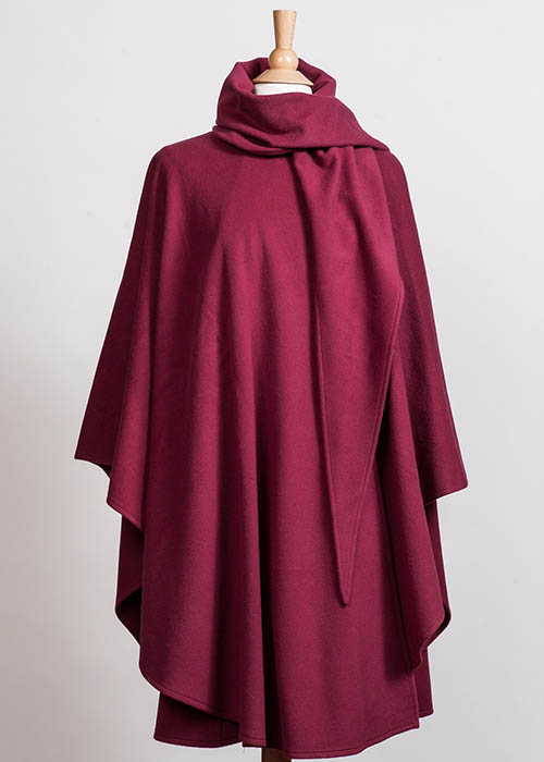 Soft Wool Cape - Red