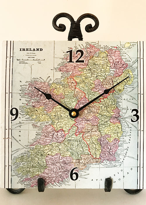 Ireland Map Clock