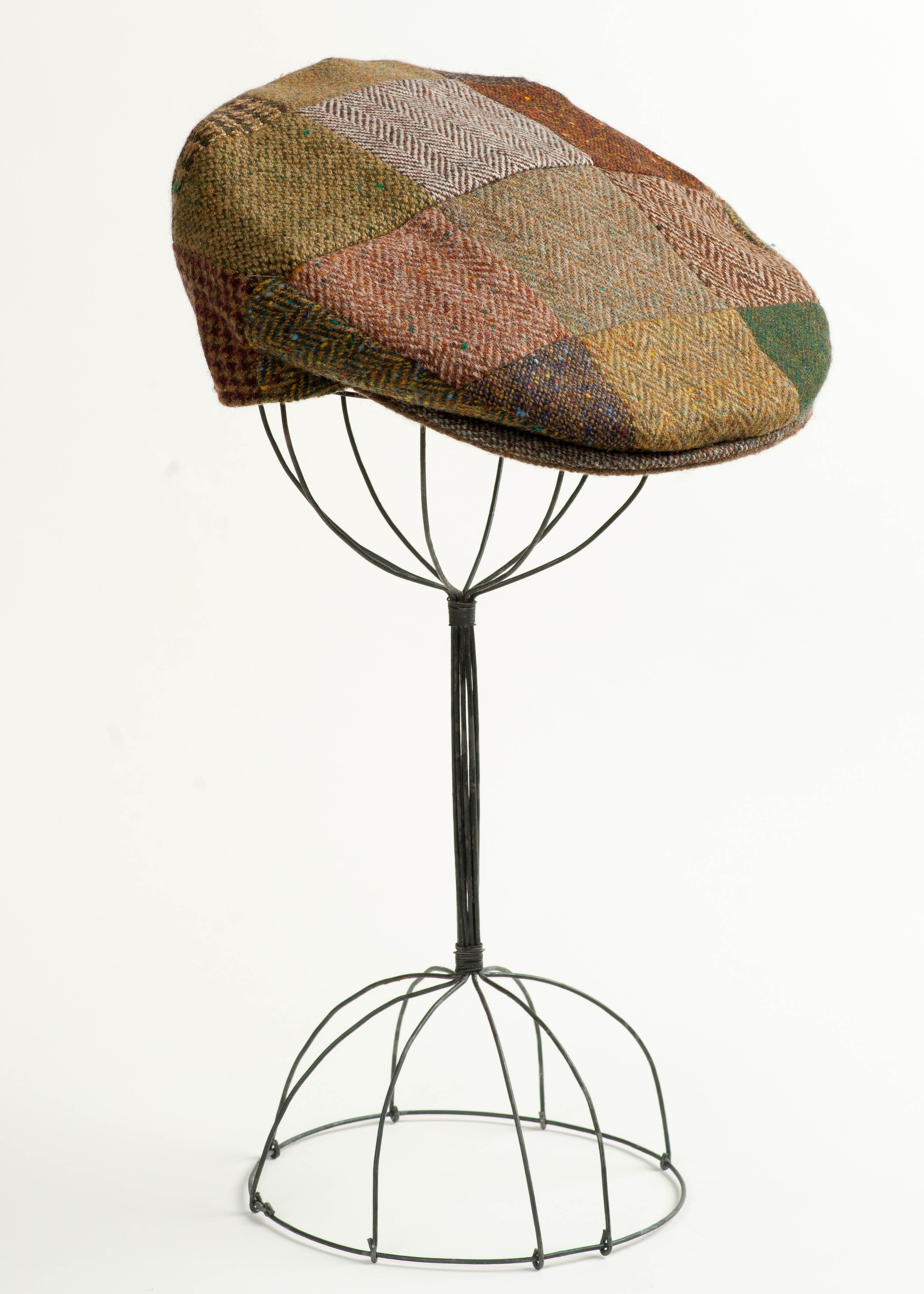 Irish Tweed Cap -  Brown Patchwork