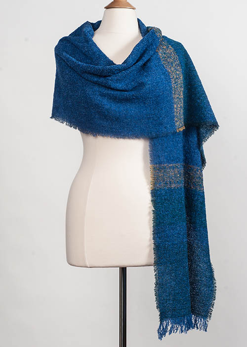 Superfine Lambswool Scarf - Cobalt Blue