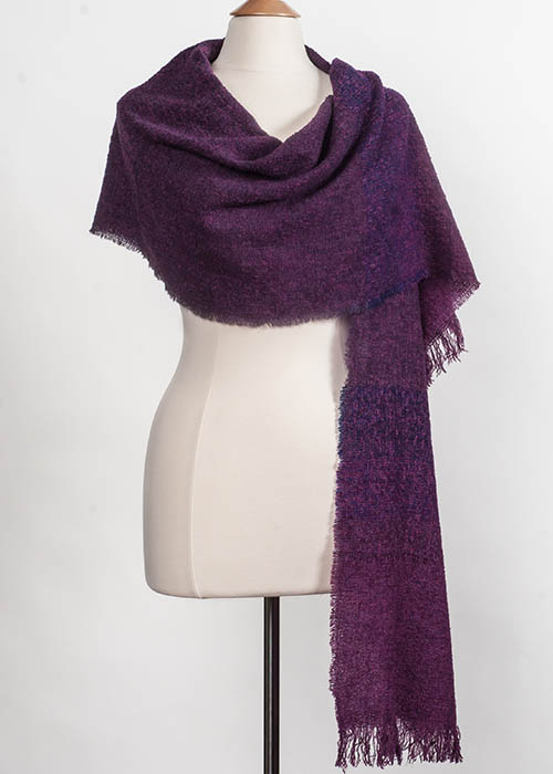 Superfine Lambswool Scarf - Cabernet