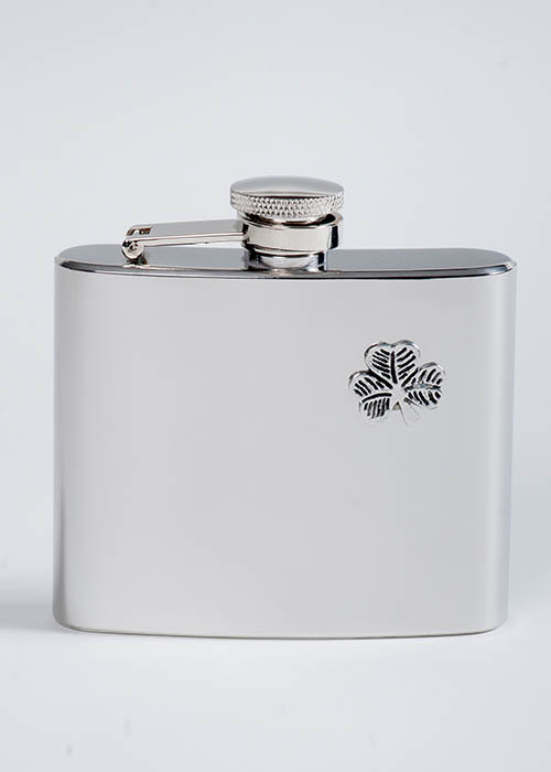 Pewter Shamrock Flask