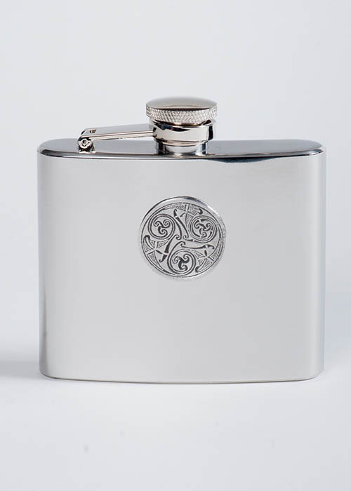 Pewter Celtic Spirals Flask