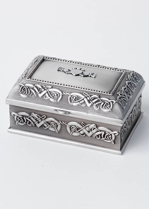 Claddagh Pewter Jewelry Box
