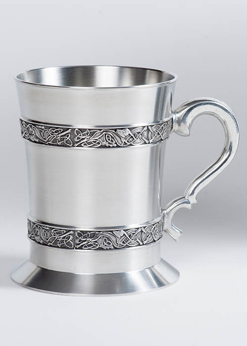 Celtic Knotwork Pewter Tankard