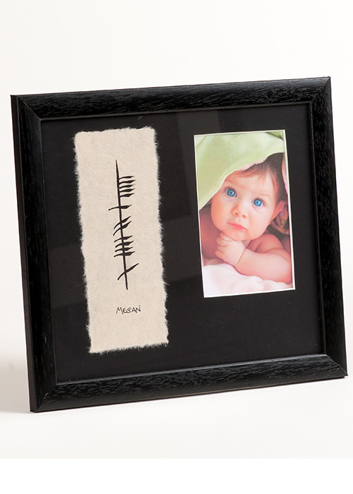 Irish Ogham Baby Name and Photo