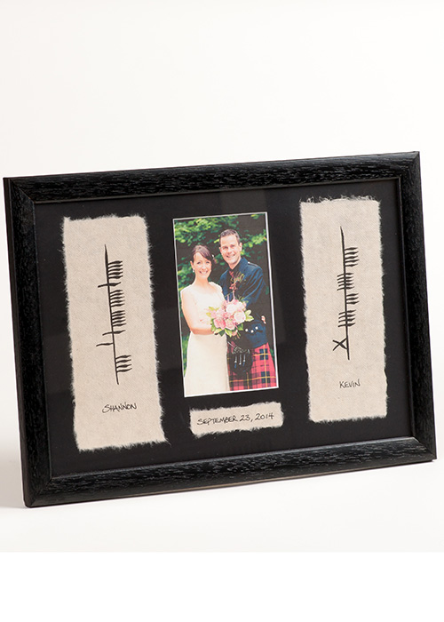 Personalized Ogham Wedding with Photo