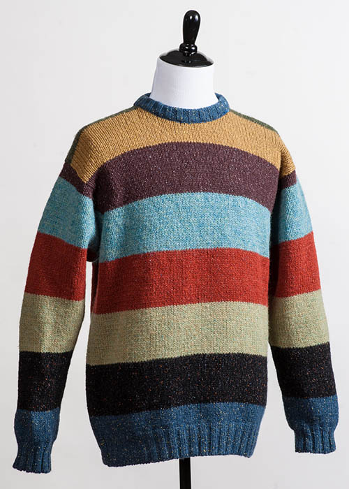 Men's Wool Sweater - Block Stripe