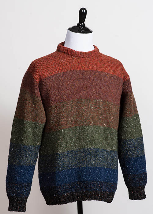 Men's Wool Sweater - Graded Stripes