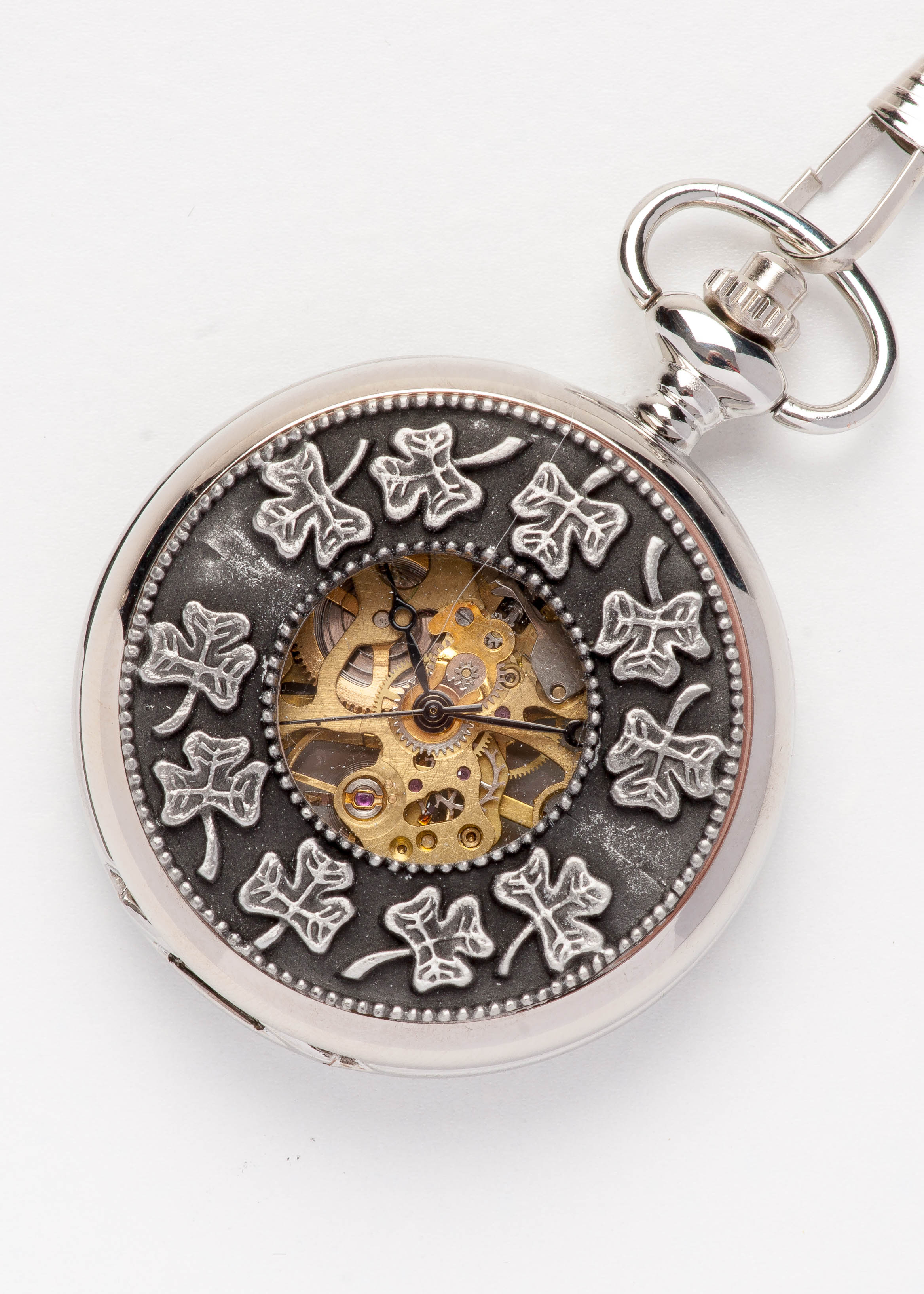 Celtic Pocket Watch - Shamrock