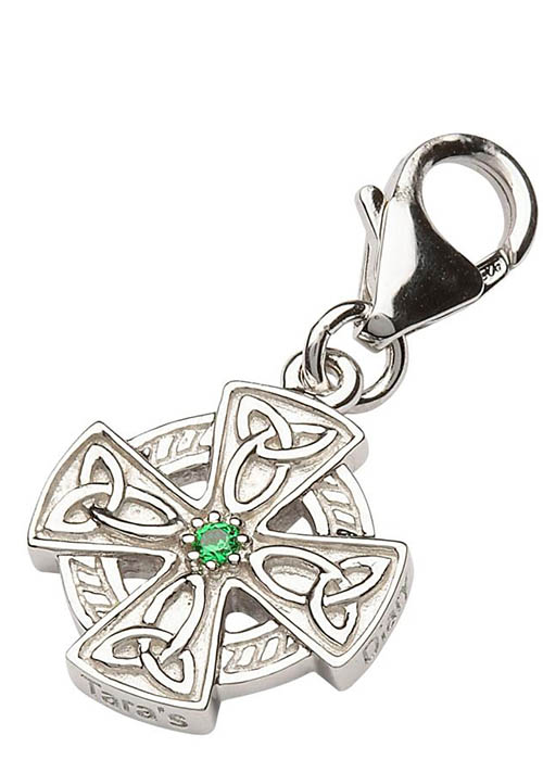Tara's Diary Sterling Celtic Cross Charm