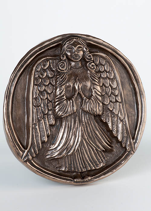 Bronze Wall Plaque - Guardian Angel