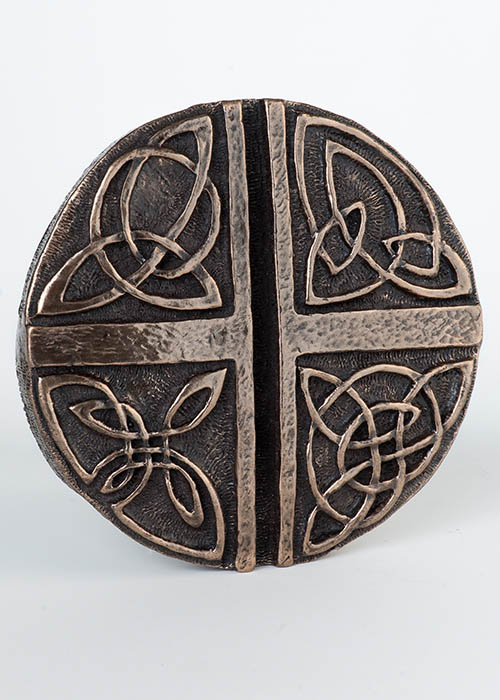 Bronze Wall Plaque - Celtic Love Cross